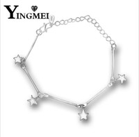 Wholesale Hearts Imitation Charm - Fashion and simple pentagonal star pendant can adjust the fine chain women personality and accessories wholesale