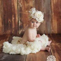 Wholesale Silk Ball Gown Wedding Dresses - Newborn Infant Baby Birthday Gift Party Wedding Silk Flower Romper Princess Dress Tutu Skirt Christmas Costumes