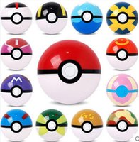 Wholesale Free Shipping Ems Super - EMS Free ship PokeBall Fairy Super poke Ball ABS Action Anime Figures 7cm pikachu figure Kids Children Toys Cosplay Pop-up Master GS Gift