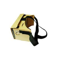 gözlük olmadan 3d toptan satış-Toptan-CES-Taşınabilir 3D Gözlük V2.0 3D VR Sanal Gerçeklik Video Gözlük gözlük durumda Ayrılabilir kafa kayışı kemer