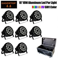 Wholesale Case Changes Light Color - 8in1 Stage Road Case Pack 18x18w Led Par Light 6CH 10CH Color Fade Jump Gradual Change LED Christmas Lights for Wedding Party Xmas Tree