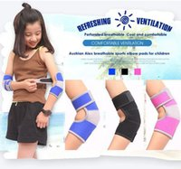 cojines de codo de voleibol al por mayor-Strained Adjustable Warm brazalete Breathable Durable Elbow Protector Para Niños Tenis Squash Golf Volleyball Fútbol Baloncesto Deporte