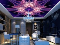 Tapeten für Wohnzimmer KTV Ceiling Abstract Purple Bright Farbe Tapeten Dekor Tapeten 3D Ceiling Wallpapers Wallpaper