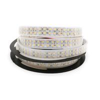 Wholesale Wholesale Rubber Strips - DC12V 5M Double Row 3528 SMD Rubber Tube Waterproof White Flexible Strip Light 240LEDs M 1200LEDs Roll Super Bright LED Strip