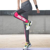 Wholesale Casual Clothes For Women Sport - VS PINK Breathable Nine Points Casual Yoga Clothes Women Gym sports Skinny pants PINK leggings Capris for Female Sweatpants Trousers
