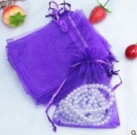 Wholesale organza bag mixed - 7x9cm Small Size 100Pcs Lot Wholesale Christmas Gift Beautiful Mixed Colour Organza Pouch Jewelry Gift Bag for Wedding Festival