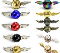 Wholesale Adult Cupid - Hand Spinner Harry Potter Golden Snitch Fidget Spinners Metal Cupid Angel Wing Decompression Toy finger Gyro For Kids Adults Free DHL