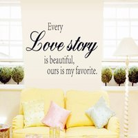 Wholesale Sticker Love Story - 23*60cm Wall Stickers DIY Art Decal Removeable Wallpaper Mural Sticker for Kids Room Bedroom Living Room Bathroom DF5301 Love Story