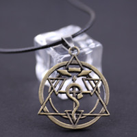 Wholesale Full Metal Cosplay - Wholesale-2016 New Japan Anime Full Metal Alchemist Hagaren Cosplay Necklace Pendant Necklace Factory Direct