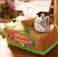 Wholesale Tissue Wholesalers - Wholesale-Neighbor Totoro towel paper box chinchilla Hayao Miyazaki animation creative vehicle Home Furnishing tissue cover