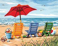 Wholesale Canvas Paint Beach - 2017 new Diamond Embroidery needlework diy Diamond painting Cross Stitch Kits scenery sea beach full round diamond mosaic Room Decor YY0112