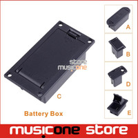 Wholesale bass guitars parts - Wholesale- Black ABS Platic 9V Battery Holder Case Box Cover For Guitar Bass Pickup parts