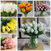 Wholesale Desktop Decorations - New 2015 Artificial Tulip Home Decorate Flower PU Wedding Decorative Artificial Flowers Party Decoration Garden and Desktop decoration