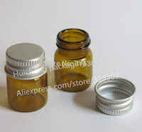 Wholesale Silver Vial - 500 x 5ml Mini Amber sample vial with silver aluminum cap for storage of small pieces essential oil use