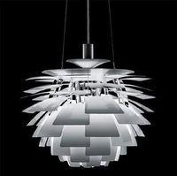 Wholesale artichoke light pendants resale online - Wonderland Thousand Leaf Artichoke Lamp Pendant Light White Silver Red Lamp PH Creative Home Style Design for Living Room PH
