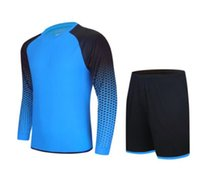 Wholesale Long Sleeve Soccer Jerseys Blank - Discount Cheap blank Long sleeve Running Sets,2018 new Custom Team Soccer Jerseys Tops With Shorts,fashion Training Running soccer uniform