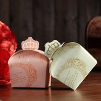 Wholesale Door Gift Wedding - Imperial Crown wedding door gift box Candy Boxes European Style ,gift Boxes,Hmane Paper Favor DIY for Wedding Party-colorful