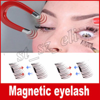Wholesale Cheap Natural Eyelashes - Hot Women False Eyelashes Magnetic Lashes eye makeupTouch Soft Wear With No gule magnet eyelashes Cheap