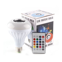 Wholesale Music LED Light RGB Control Colorful Bulb Bluetooth Speaker Portable Music Smart RGB Bubble Lamp Wireless Bluetooth Music Lamp