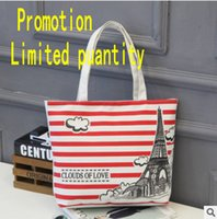 Wholesale Wholesale Canvas Oxfords - 2017 Good quality New store offers Large-capacity women's shoulder printed canvas shopping bag trend personalized backpack