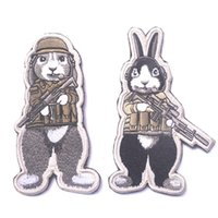 Wholesale zodiac 3d for sale - Group buy T12 Chinese Zodiac Private Dog Jailbreak Rabbit Tactical Patch Embroidered Badge D Fabric Cloth Armband Flag Badge