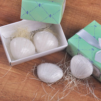 Wholesale Ocean Breeze Seashell - Seashells Scented Soap Baby Shower Gifts Handmade Soaps Wedding Party Favor Ocean Breeze Soaps 2pcs box gift box packing