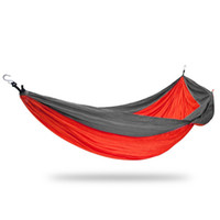 Vente en gros - Double Outdoor Wave Swing Parachute Fabric Lightweight Backpacking Hamac Vente Chair Hook Spring Hanging Chair