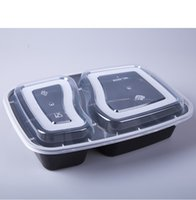 Wholesale Disposable Lunch - Meal Prep Containers Set Microwavable 2 department Food Storage Lunch Boxes Lids Home Office Dinner Lunch Box Case Disposable Dinnerware