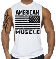 Wholesale Tank Top Gym Men Designs - Wholesale- American Flag Design Fitness Men Tank Top Bodybuilding gyms clothing Sporting Wear Vest muscle Stringer cotton Undershirt