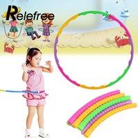 Wholesale Kids Aerobics - Wholesale- Relefree 65cm Plastic Fitness Hula Hoop Massage Hoops Hula-hoop Aerobics Fitness Gymnastic Colourful For Children Kid building