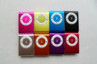 Wholesale clip mp3 player memory for sale - Portable Metal Clip MP3 Player with Candy Colors No Memory Card Music Player with TF Slot