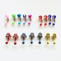 Wholesale Navel Piercing 8mm - 1.6*12*5 8mm Stainless Steel Button Navel Rings,Wholesale Mix 3 Styles Navel Piercing Women Body Jewelry BJ7300