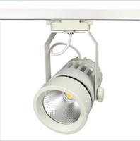lampe frontale achat en gros de-La voie de LED allume 30W COB 130-140lm / W la lumière moderne mobile de rail de mur de tête mobile égale des lampes halogènes 300W pour le magasin de vêtements magasin de chaussures