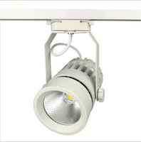 Wholesale head track light online - LED Track Lights W COB lm W Moving Head Modern Wall Rail Light Equal W Halogen Lamps For Clothes Shop Shoes Store