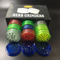 Wholesale Wholesale Plastic Grinders - 2017 herb grinder with 3layer 60mm plastic material herb grinders for smoke detectors pope smoking pipes acrylic grinders