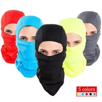 Wholesale Protection Mask Bicycle - Wholesale- 5 Colors Bicycle Face Mask Thermal Protection Windproof Breathable Lightweight Cycling Warmer Hood for Outdoor Sports