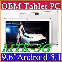 Wholesale Quad Core Ips Mtk6589 3g - 30X 9.6 Inch Tablet PC MTK8382 MTK6592 Quad Core Android 4.4 Android 5.1 Tablet 1GB 16GB 5mp IPS Screen 800*1280 GPS 3G phone Tablets E-9PB