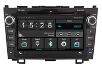 Wholesale New V Core - Navirider car dvd player for Honda CRV new stereo headunit stereo wince6.0 dual core 256MB Capactive touch 1080P DVR 3G WIFI TPMS GPS radio