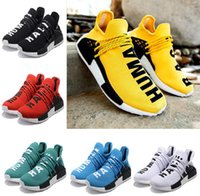 Wholesale Human Trainer - 2017 NMD Human Race Runner Boost Pharrell Runners Trainers NMD Boost Running Shoes Human race Williams Pharrell X yellow red size 36-47