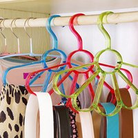 Wholesale Durable Plastic Clips - Petal Type Clothes Hanger Scarf Hanger Durable Multifunction Hanger Storage Pane For Home Supplies High Quality