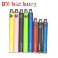 Wholesale Dry Herb Vaporizer Twist - AAAA EVOD twist battery 3.3v-4.8v electronic cigarette 510 thread battery for MT3 CE3 CE4 protank glass atomizer vaporizer dry herb wax