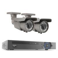 Wholesale Bullet Varifocal - 4CH 48V POE NVR 1080P HD CCTV System 2pcs 2.0MP 2.8-12mm Varifocal Lens P2P IP Camera Outdoor Security Surveillance Kit