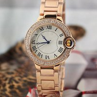 New Couple Luxury Watch mulheres relógios masculinos Top Brand Dress Gold Full Stainless Steel Diamond Quartz Relógios de pulso para homens Ladies best gift