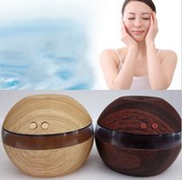 Wholesale impeller humidifier - New Design Essential Oil Wood Grain Oil Diffuser Aromatherapy Office Home SPA Wood Grain USB Aroma Humidifier LLFA