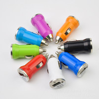 Wholesale Mini Manufacturing - Manufacture Universal Mini USB Car Charger Universal USB Adapter Colorful Car Charger for cell phone iPhone 7 7Plus 5 5s 5c 6 Samsung DHL