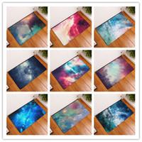 estera de pvc de impresión al por mayor-Rectángulo de alfombra Starry Sky 3D Printing Bath Mat Baño antideslizante Originalidad PVC de goma Retailers de agua de aspiración 9 8xrc J R