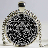 The Seal of the Seven Archangels and Olympic Spirits Collier en verre Collier en cabochon photo