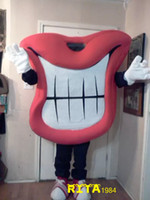 Wholesale Red Theme Mascot - Big Red Mouth Mascot Costume Red Lips Theme Free Shipping