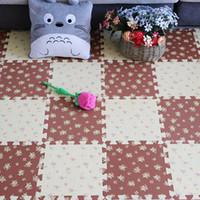 Wholesale Puzzle Floor Eva - 28cm Baby Climb Foam Mat EVA Carpet Little Flower Point Pattern Puzzle Bedroom Floor Soft Mat Thicker Puzzle Mats