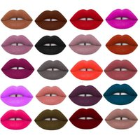 Wholesale 32 Lip Gloss - 32 Color Lip Gloss Red velvet lana blonine mercury long lasting Liquid Matte Lipstick DHL Free